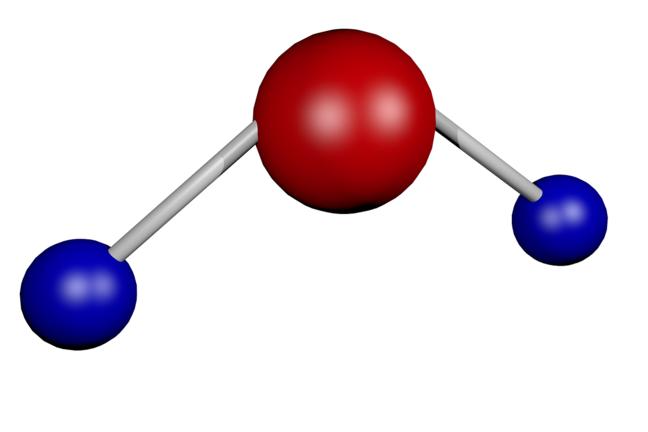 Шаростержневая модель молекулы воды