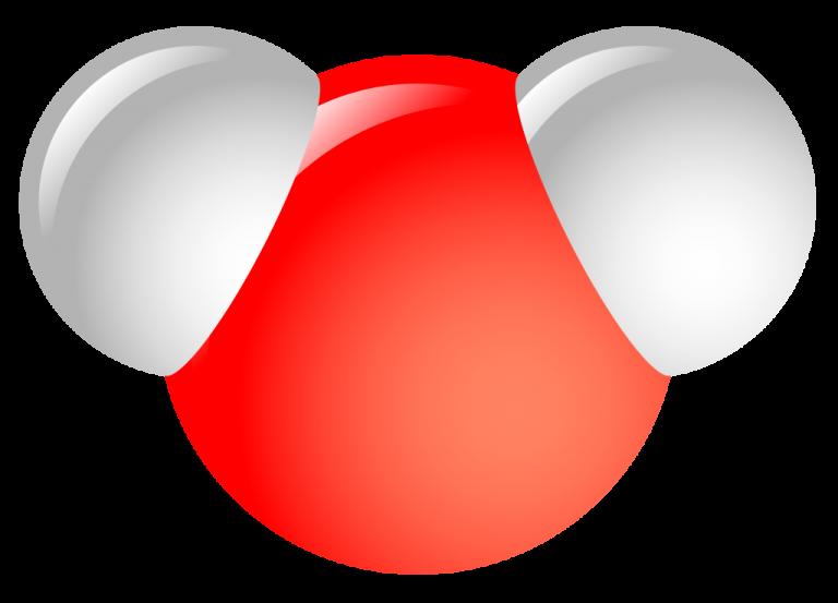 Объемная модель молекулы воды