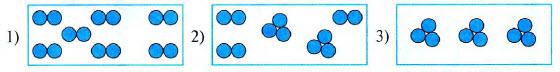 Выберите схемы, изображающие состав чистых веществ