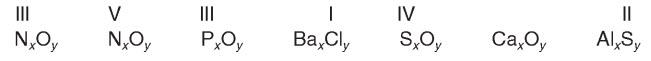 Найдите индексы x и y в приведенных формулах.