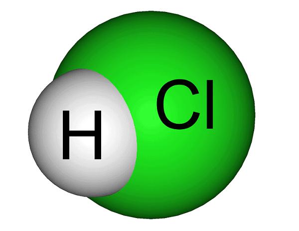 объемная модель молекулы хлороводорода