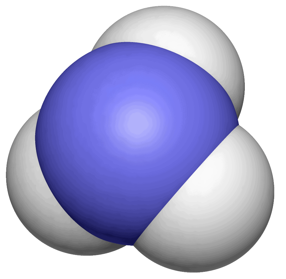 объемная модель молекулы аммиака